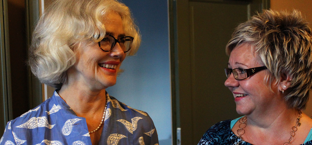 """Man blir lite starstrucked"" - Abonnenten Ingela Adamsson om mötet med Marika Lagercrantz."