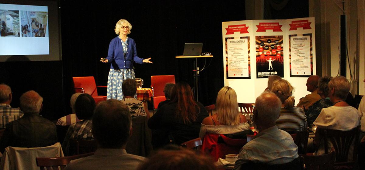Upplevelser och insikter - Marika Lagercrantz berättade om sin tid som kulturråd i Berlin.