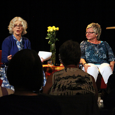 Marika Lagercrantz och Ingela Adamsson. Foto: Jeanette Söderwall