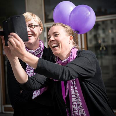 Ingrid Fransson och Lisa Ericstam på Scenkonstbiennalen i Malmö 2015. Foto: Jenny Baumgartner