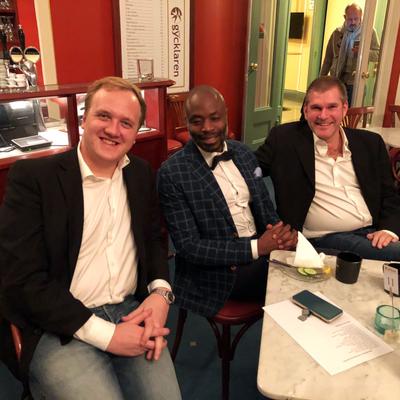 Martin Waerme och William Wahlstedt och Björn Andersson. Foto: Linda Vidarv