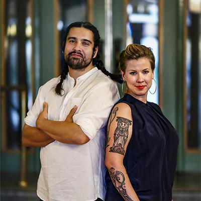 Nils Poletti och Fanny Twardomanski. Foto: Peter Holgersson