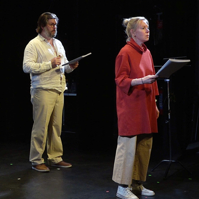 Peter Jansson och Ann-Sofie Andersson Kern i De insnöade