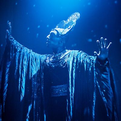 Andreas Österberg i Rocky Horror Show. Foto: Markus Gårder