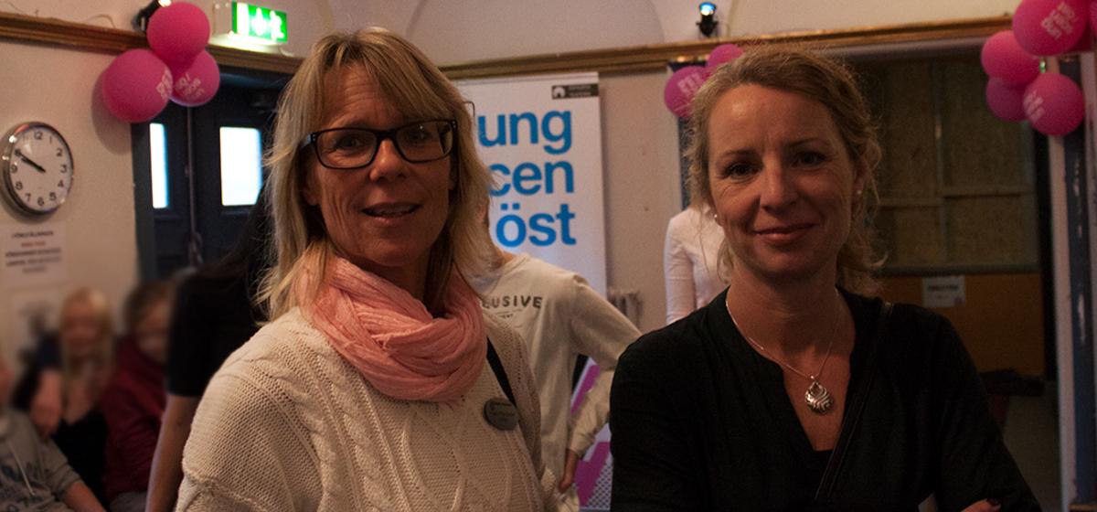 """""""Viktigt för elever"""" - Lärarna Ingela Fröjd Ekman och Maria Wångström tycker att det är roligt med teater."""