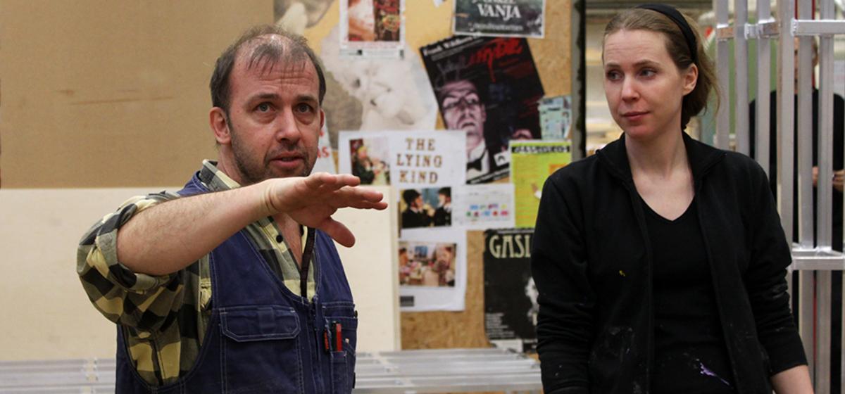 Samarbete - Magnus Emilsson tillsammans med målaren Lisa Bolin.