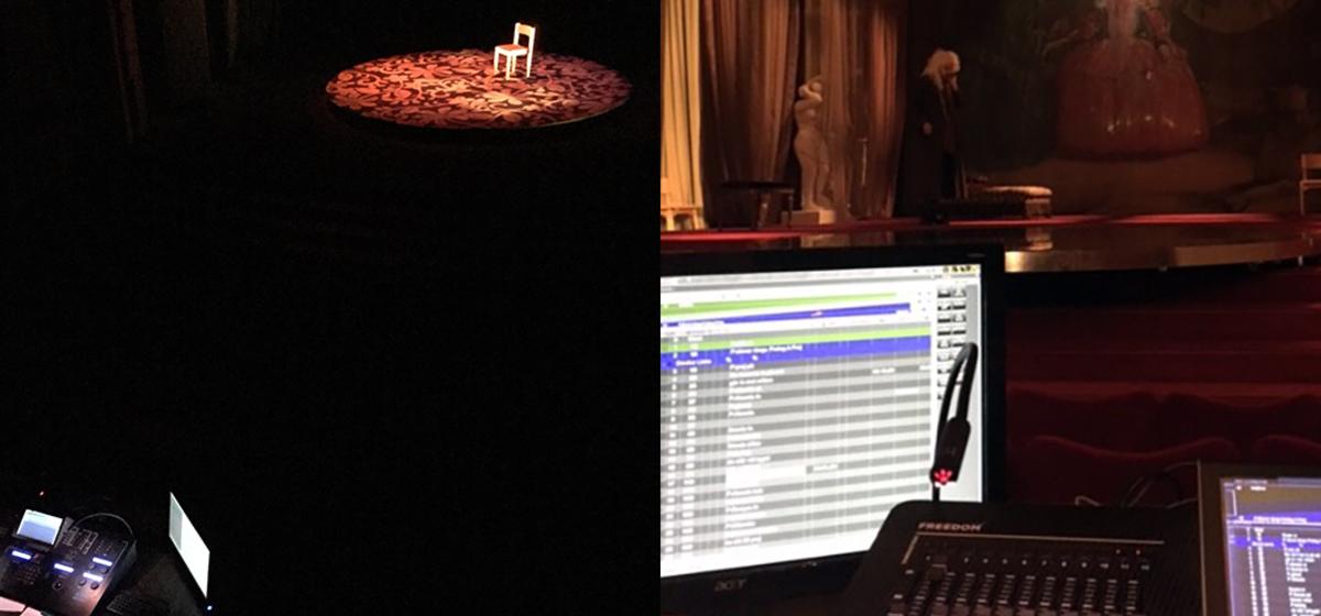 Bakom ljusbordet - Bilder från förberedelserna inför Ensam respektive Misantropen.